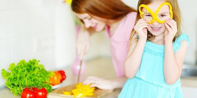 Children enjoying food prep